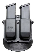 Fobus Double For 2 Magazine Paddle Pouch Holster Fits Glock 17 19 9mm Mags New