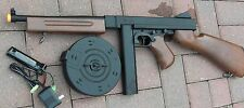 Airsoft Auto Electric Rifle Thompson M1A1 Tommy Gun w/2 Magazine Shoot @ 340 FPS