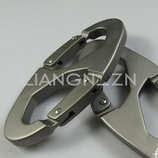 2 Mousqueton S Aluminium Biner Porte-clé Métal Randonnée Escalade Boucle Double