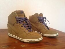 Nike Dunk Sky Hi High Top Bamboo Suede Wedge Sneaker Boots Booties
