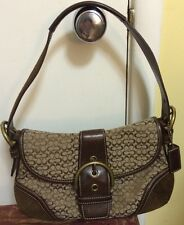 Authentic Coach 6818 Handbag Hobo Purse G04J-6818 Signature Flap Soho Bag EUC!