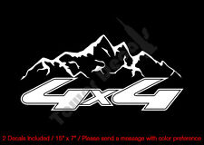 4X4 OFFROAD MOUNTAIN VINYL DECAL (2) FITS:CHEVY GMC DODGE FORD NISSAN TOYOTA