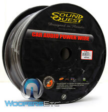 SOUNDQUEST SQPH0BK 0 GA 50 FEET POWER GROUND WIRE MATTE BLACK CABLE by STINGER