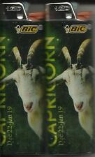 ZODIAC (2013) ASTROLOGY HOROSCOPE CAPRICORN BIC LIGHTER SET OF 2 MADE IN THE USA