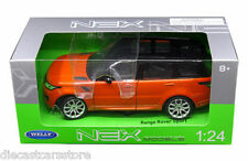 WELLY 2015 RANGE ROVER SPORT SUV 1/24 DIECAST ORANGE with BLACK TOP 24059W-OR