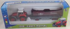 Super Power granjero Rojo Tractor & petrolero Die Cast Metal 1:72 - no 1801-F