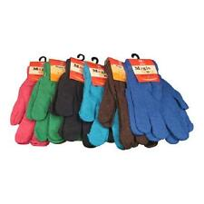 24 Pairs Solid Color Knit Gloves Unisex Mens Womens Magic Gloves WHOLESALE LOT
