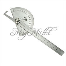 Stainless Protractor Round Head Angle Finder Craftsman Ruler Machinist Tool Z