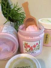 SWEET PEA-Luxurious Facial Scrub- exfoliate and cleanse- organic Jojoba oil 4oz