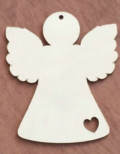 10 x Wooden Angel Wedding Decoration Rustic Hanging Blank Gift Shape Tag