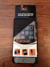 NEW Pholet Leather Smart Phone Wallet iPhone 5/5S Smartphone - Black