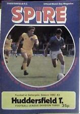 Chesterfield V Huddersfield Town 82-83 de la Liga Match