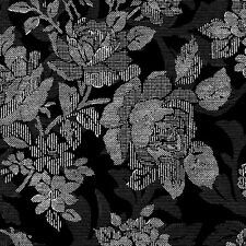 RuRu Bouqet Black Roses Screened on Black, Quilt Gate, Gorgeous! By 1/2 Yard