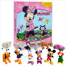 NEW Disneys Minnie Mouse & Friends Set Of 12 Figures My Busy Book & Map