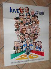 FC JUVENTUS JUVE FACCE DA SCUDETTO SCUDETTO 26 MAXI POSTER 71x58 TUTTOSPORT