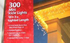 Wedding Icicle Lights - White Mini Lights, 300 on 13 Foot Strand