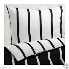 Ikea Full/Queen Tuvbracka Duvet Cover Pillowcase Black White Bedding TUVBRÄCKA