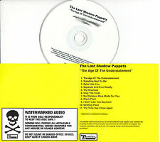 THE LAST SHADOW PUPPETS Age Of Understatement UK 11tk watermarked promo test CD