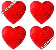 ~ Sparkle Red Love Hearts Romance Wedding Heart Hambly Studio Glitter Stickers ~
