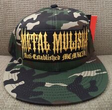 METAL MULISHA AT LARGE SNAPBACK CAP HAT L/XL 7 1/2 FLEXFIT CAMO *NWT*