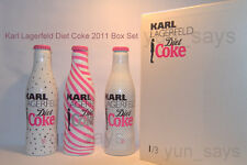 **Rare**  2011 Karl Lagerfeld Diet Coke Limited Edition 3 Bottles [Boxed Set]