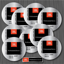 N.2 JBL 2327 2329 2340 2345 2350 2355 2356 2390 2391 2395 2397 STICKERS - PAIR