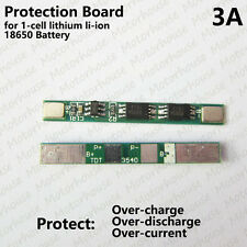 1S 3.7V 3A PCB BMS Protection Board for 1 Pack 18650 Li-ion lithium Battery Cell