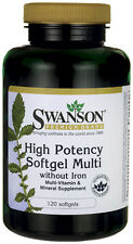 Swanson Premium High Potency Softgel Multi Iron Free 120 sgels