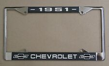 51 1951 Chevy car truck Chrome license plate frame