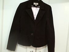 JUICY COUTURE dark brown long sleeve corduroy blazer size L