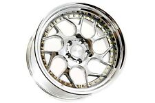 18x9.5/10.5 Aodhan DS01 5x114.3 +15 Vaccum w/Gold Rivets Wheels (Set of 4)