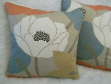 """GUSTAF BY WARWICK 1 PAIR OF 18"""" CUSHION COVERS DOUBLE SIDED/PIPED"""