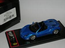 BBR Models 1:43 BBRC173 Ferrari 488 Spider AA Frankfurt 2015 Metal Blue LTD