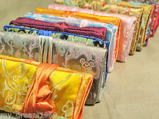 Wholesale 10 pcs Silk Brocade Travel Jewelry Roll Bag Case Pouch Carrying