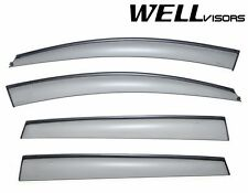 WellVisors Side Window Visors Deflectors W/ Black Trim For 06-13 Subaru Tribeca