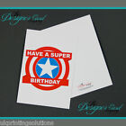 Super Hero Birthday Greeting Card