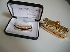 Gold finish Grill For Top Teeth Hip Hop Bling Mouth Grillz With Holder & Box