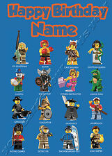 - LEGO MINIFIGURES - IDEAL FOR SON GRANDSON CHILDRENS PERSONALISED BIRTHDAY CARD