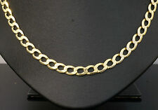"""9Carat Yellow Gold 20"""" Inch Curb Link Necklace & Whale Clasp 15.4gram 5mm Width"""
