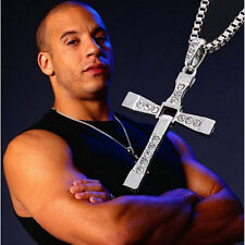 Dominic Toretto's The Fast And Furious 7 Men Cross Pendant Fashion Necklace Gift
