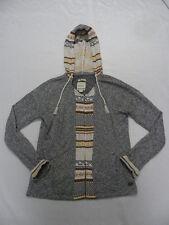 Roxy Woman West Coast Gray L/S Zip-Up Fleece Hoodie Sz Medium