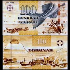 Faeroe Faroe Islands, 100 Kronur, 2011, P-30, UNC  new signature and security
