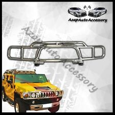 For 03-08 09 Hummer H2 Chrome Stainless Brush Grille Guard Grill W/ H2 Logo