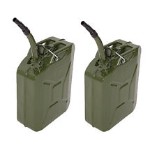 2PCS 5 Gal 20L Jerry Can Gasoline Gas Fuel Can Emergency Backup Gas Caddy Tank