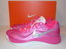 NEW Women's Nike Hyperfuse Basketbal Shoes Size 9.5 Pink White Silver 555076-600
