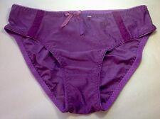 Women Panties,Bikinis QUEEN Size Small Violet/Purple Satin Floral W/decoration