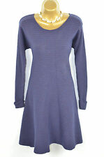 JAEGER Purple ribbed cashmere blend Jumper Dress UK Medium