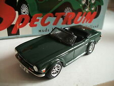 Spectrum Autodrome Handbuilt Triump TR 6 in British Racing green on 1:43 in Box
