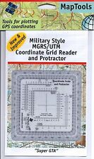 Protractor Reader Scale Improved Military Forces UTM/MGRS Map Tools Super GTA