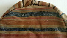 Pottery Barn Found Kilim Pouf Floor Cushion Slipcover Warm Brown Gold Blue NWT